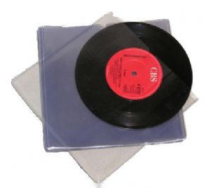 "7"" Single Clear PVC Sleeves - Pack of 25 Sleeves"